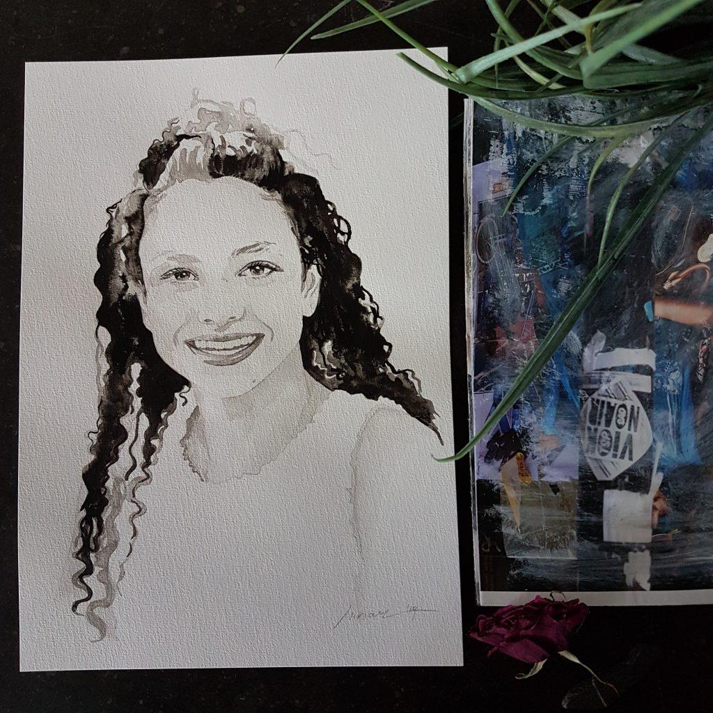 kind portret van een puber meisje