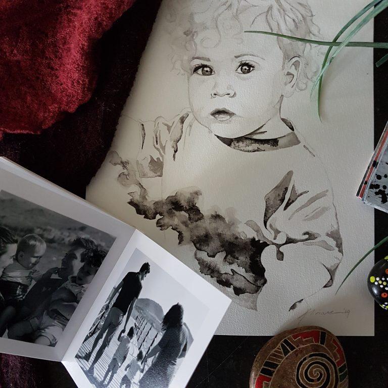 kindportret inkt portret