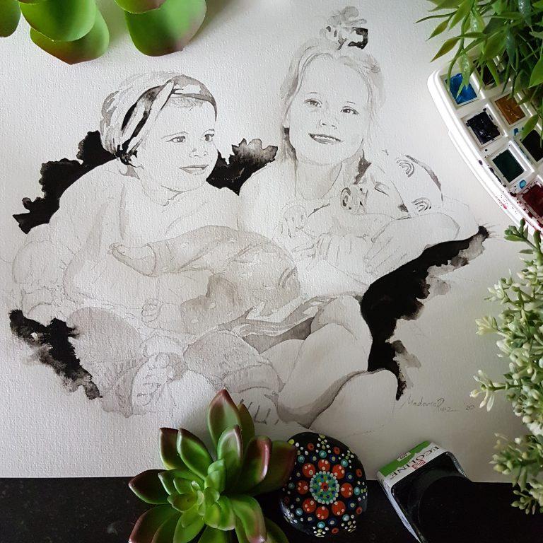 portret drie personen