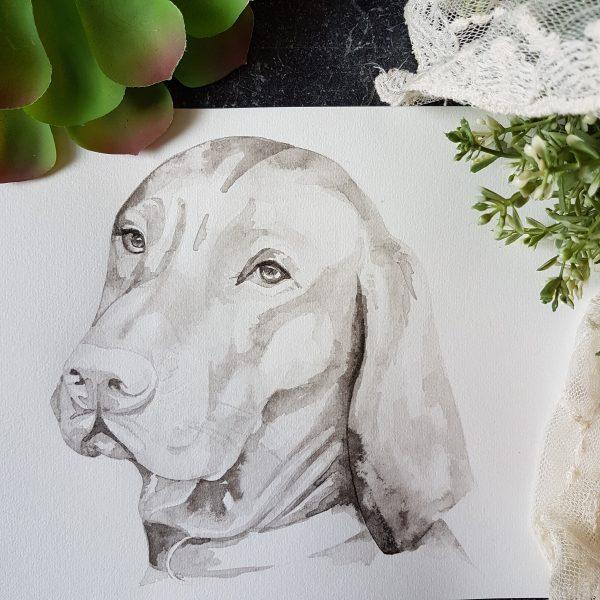 honden portret inkt portret
