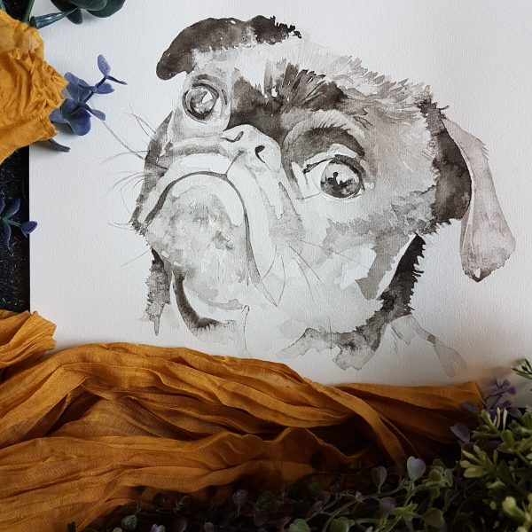 hondenportret inkt portret