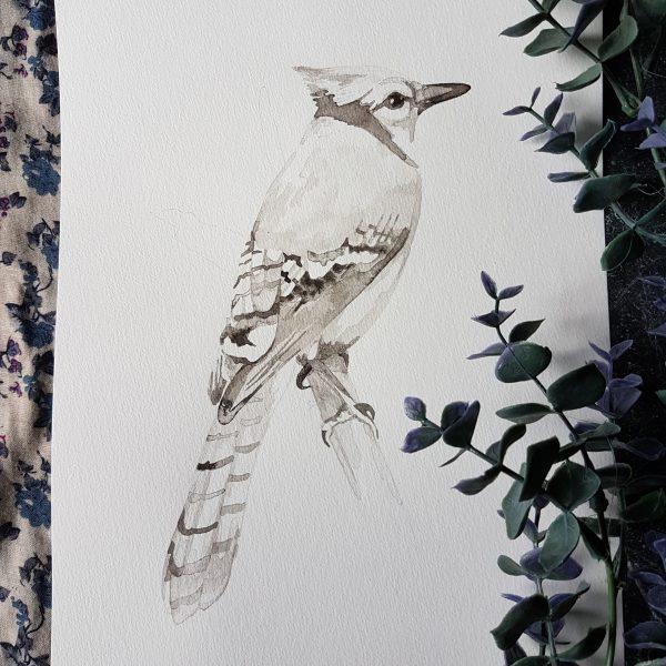 vogelportret inkt portret
