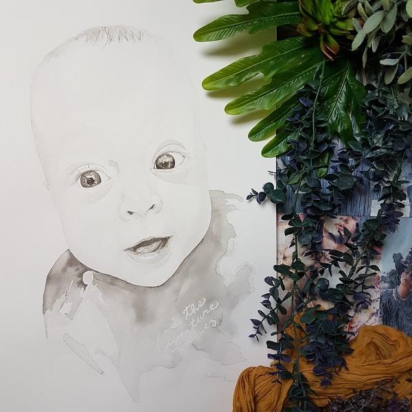 babyportret inkt portret