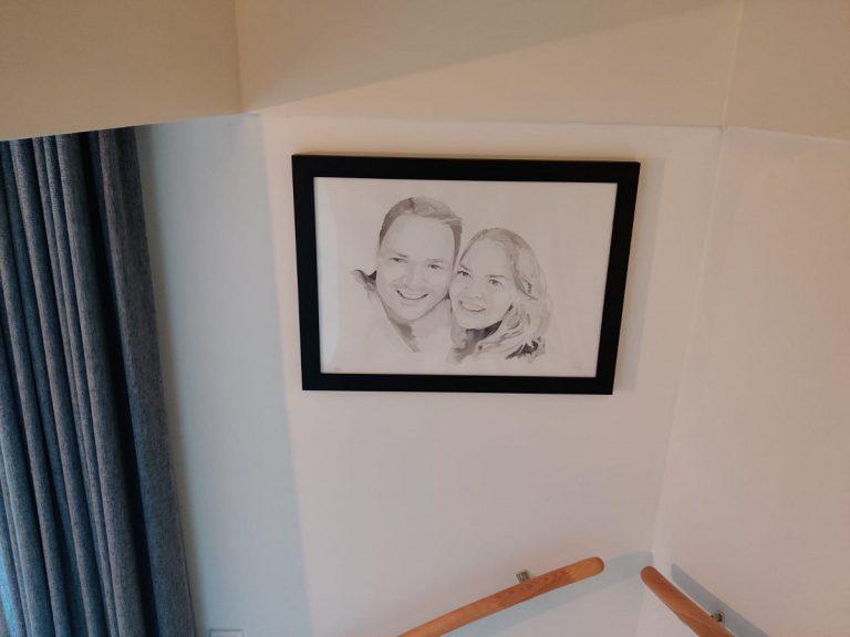 liefdesportret klantfoto inkt portret