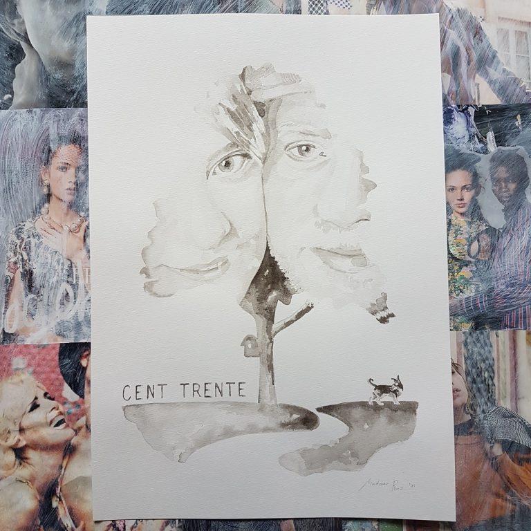 huwelijksportret inktportret in opdracht bruidspaar bruidsportret persoonlijk portret inkttekening madameruiz 5